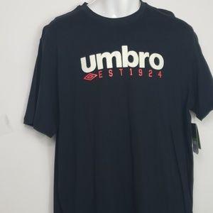 NWT Umbro spellout mens black T. Sz XL